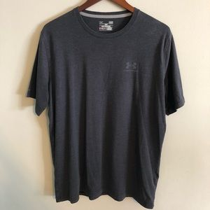 Under Armour L loose heat gear tee charcoal gray